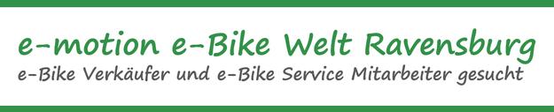 Stellenangebot e-motion e-Bike Welt Ravensburg