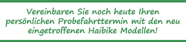 e-Bike Probefahrt Haibike e-motion e-Bike Welt Düsseldorf