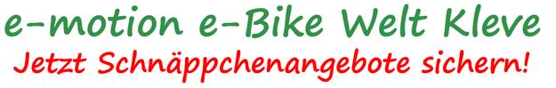e-Bike Schnäppchen in der e-motion e-Bike Welt Kleve