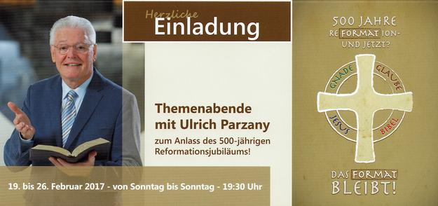 Einladung - Themenabende mit Ulrich Parzany   I  Für weitere Infos bitte auf das Bild klicken.