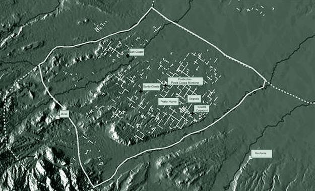 """Localizzazione delle chiese paleocristiane all'interno del """"saltus Carminianensis"""""""