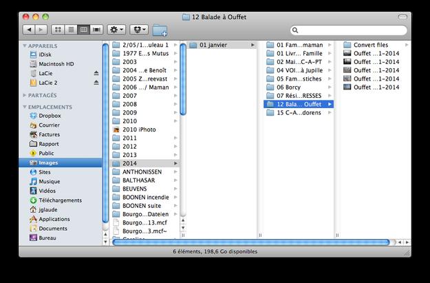 """La nomenclature de mon dossier """"images"""" sur un Mac"""