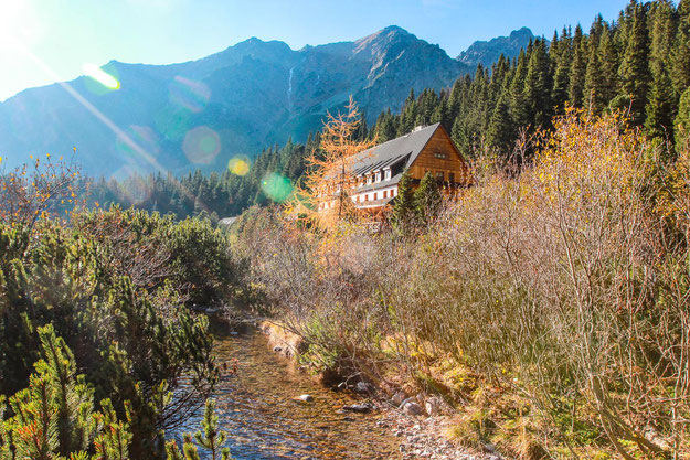 Unsere Unterkunft für die nächsten zwei Tage - das Berghotel Popradskè Pleso.