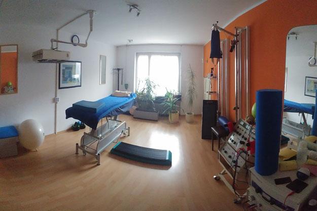 Behandlungszimmer für z.B. Fango, Massage, Krankengymnastik und Manuelle Therapie