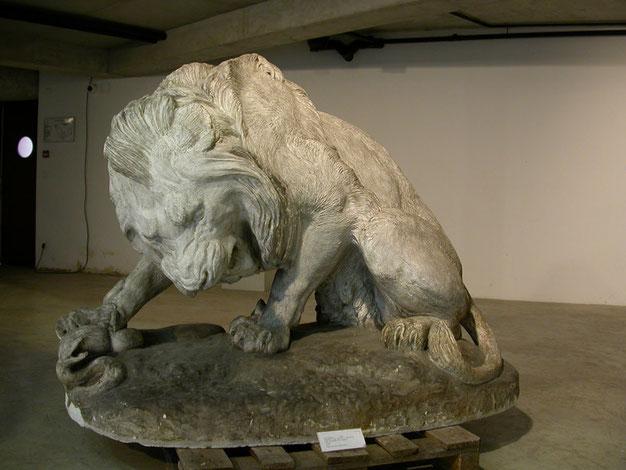 Lyon de Barye. Moulage plâtre, musée des moulages de Lyon.