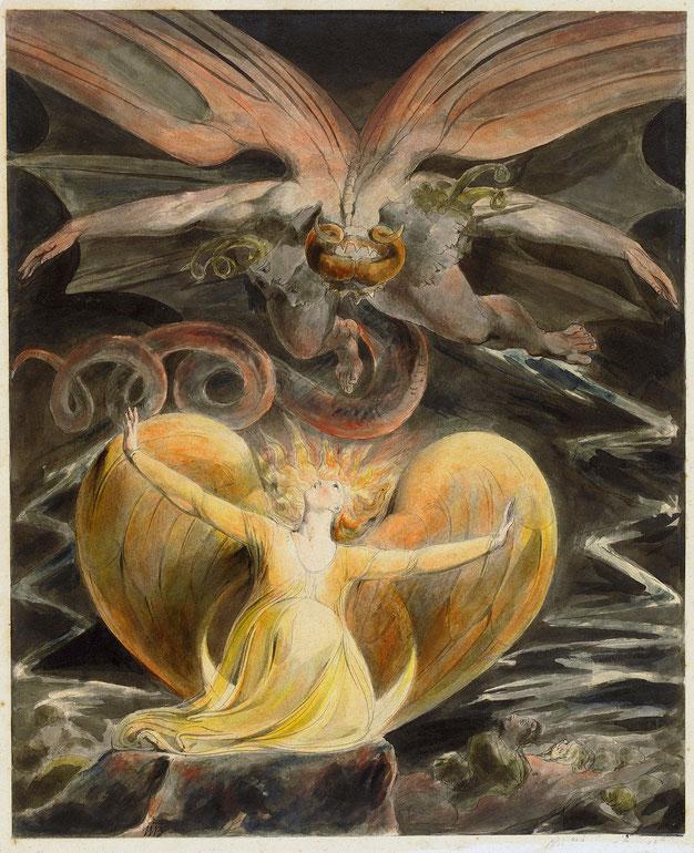 《グレート・レッド・ドラゴンと太陽の女》1805-1810年頃