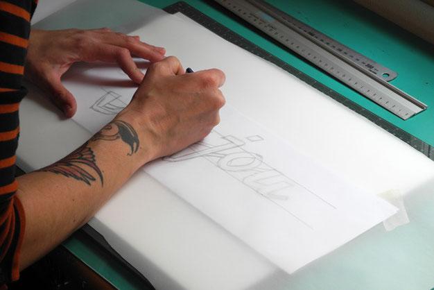Schriftenmalerei und Blattvergoldung Atelier Winterthur - Zürich - Schweiz