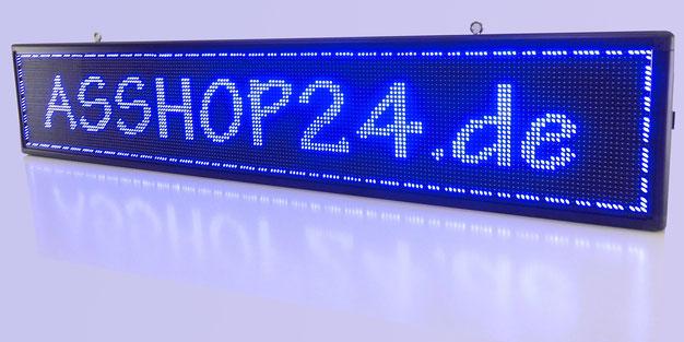 LED-Laufschrift / LED-Display (blau) 200 cm x 40 cm