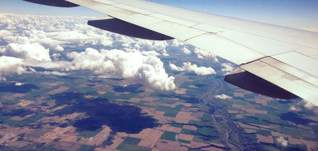 Blick auf weite Felder, Kanada, Alberta, 18.06.17
