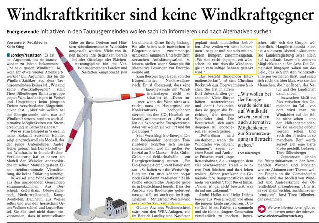Rhein-Lahn-Zeitung vom 30.12.2014
