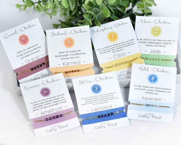 Auswahl von 7 Chakra Armbänder