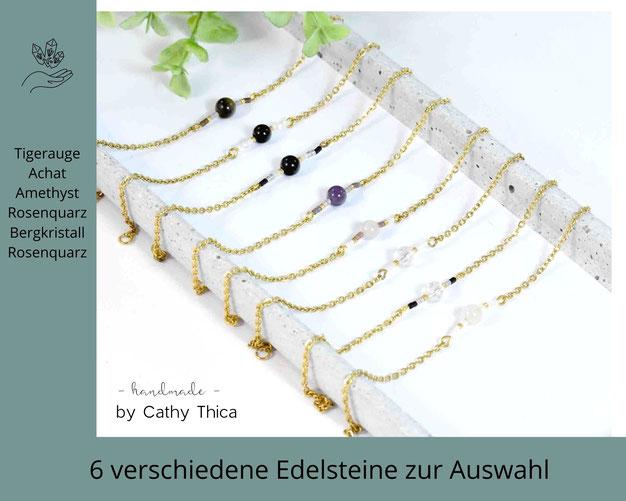 Lebenskreis  Edelstein Armband mit 14 verschiedenen Edelsteinen zur Auswahl