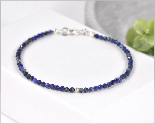 Lapislazuli Edelsteinarmband Mix 2 - 5 mm facettiert