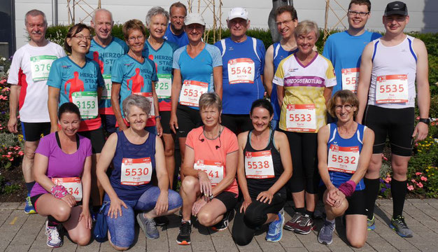 Das Läufer-Team des LC Tanne Hunderdorf beim Herzogstadtlauf 2018
