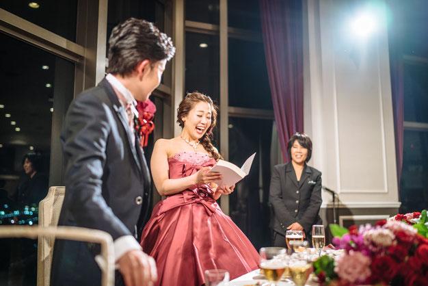 Natsumetic披露宴中のサプライズ写真・瞬間