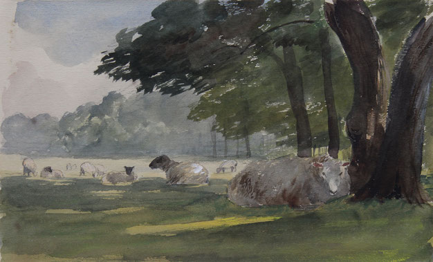 Thomas Burton Watkin Forster TBWF Karl Lang Archiv Büsingen Aquarell watercolor