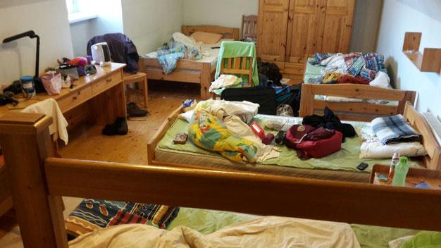 so sah mein Zimmer in unserer Unterkunft aus