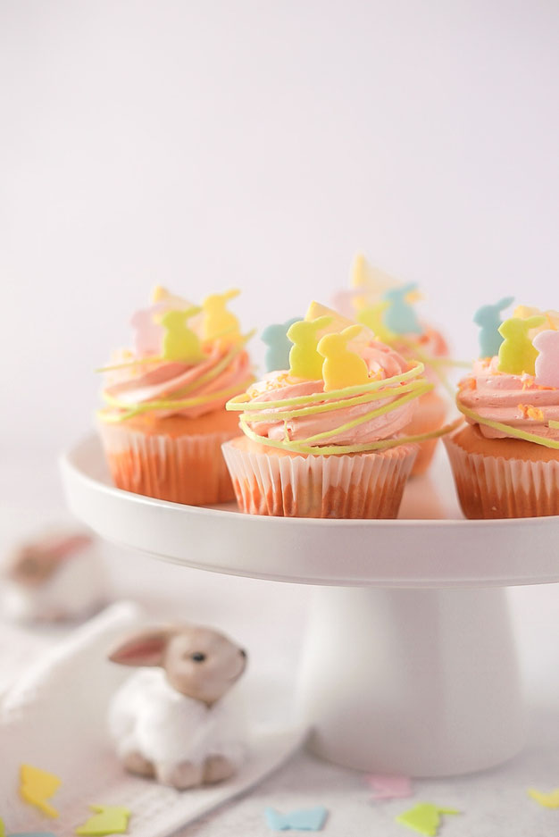 Zitronen - Cupcakes mit Esspapier - Deko