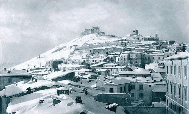 Campobasso sotto la neve a inizio Novecento