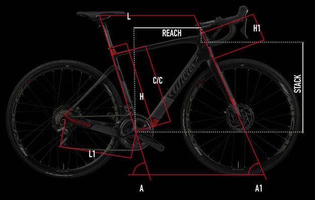 Wilier CENTO1HYBRID Geometrie Italian Cycle Experience