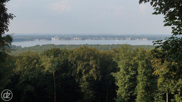 Blick vom kleinen Müggelberg auf den Müggelsee Richtung Friedrichshagen
