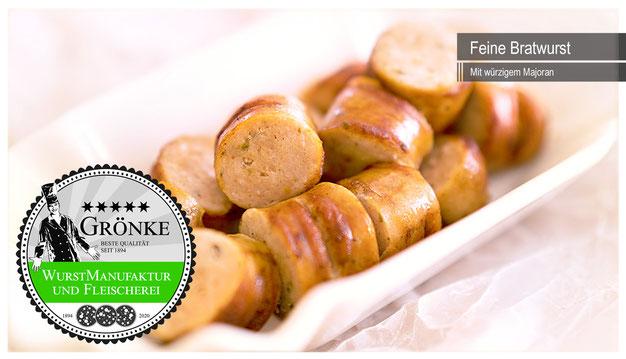 Frische Grillwurst, Bratwurst und Currywurst direkt aus der Wurstmanufaktur Grönke