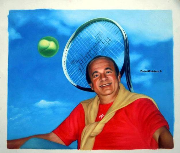 portrait-peinture-tennis-cadeau