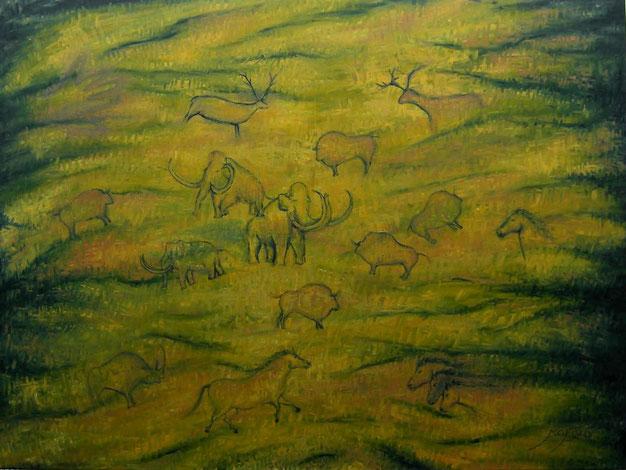 Pinturas rupestres 130 x 97 cm