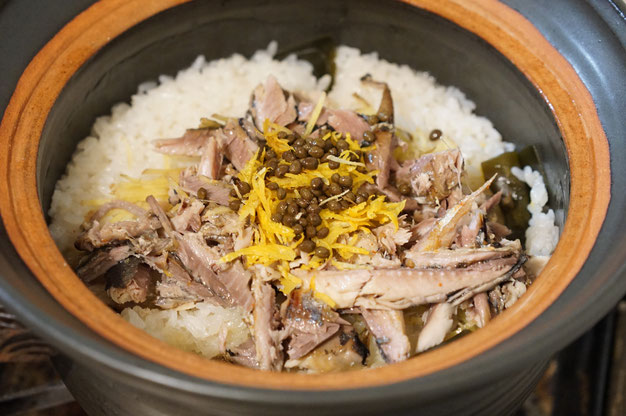 仲本律子 R工房 女性陶芸家土鍋作品 料理 ブログ サンマご飯