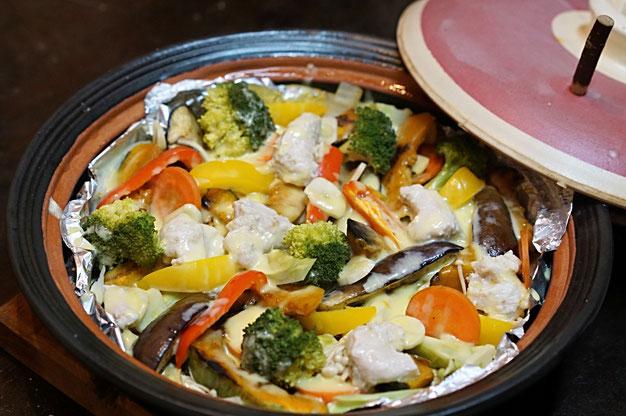 仲本律子 R工房 女性陶芸家 土鍋作品 料理 ブログ 焼き野菜