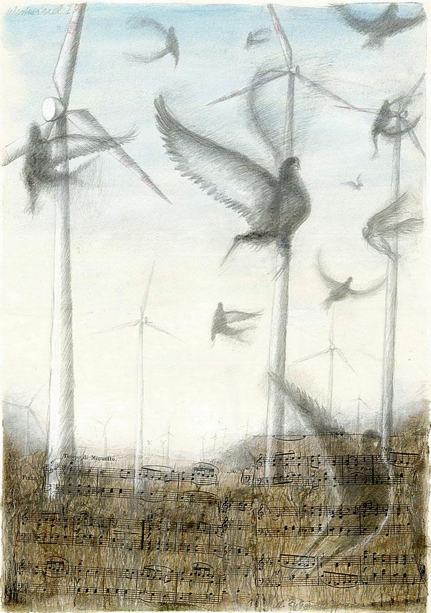 Windräder in der Natur und die Musik dazu...