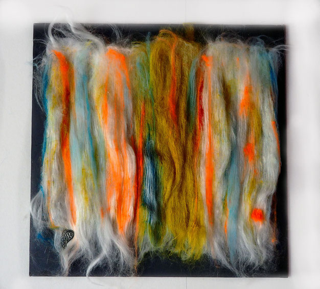 Fiber painting - Wall hanging - Vegan friendly - Sylvie Martin Rodriguez