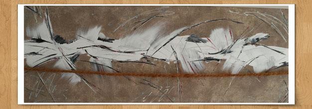 Natursturm 120 x 50cm  Acryl auf Leinwand  -verkauft-