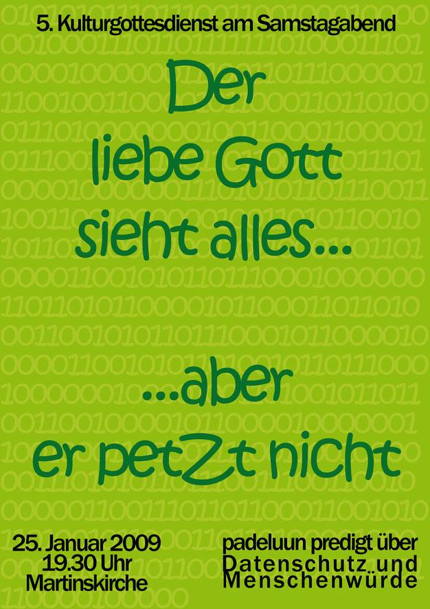 padeluun datenschutz kulturgottesdienst plakat