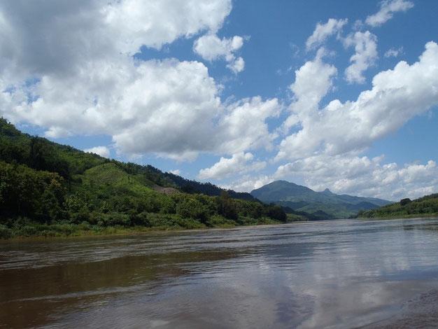 Mekong river slow boat, Laos, Asia