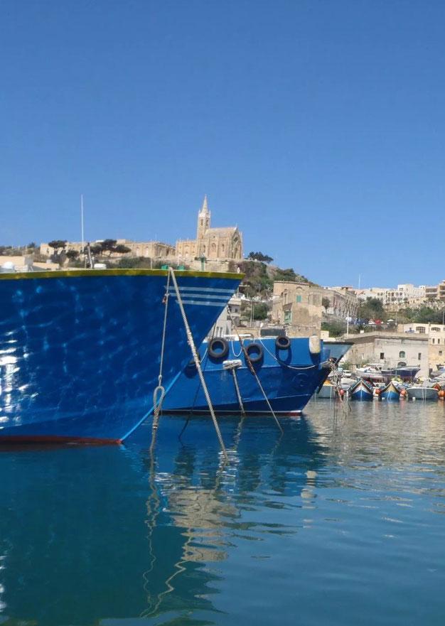 boats, Gozo, Malta