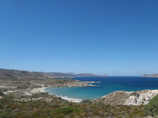 Milos camping, Milos, Cyclades, Greece.