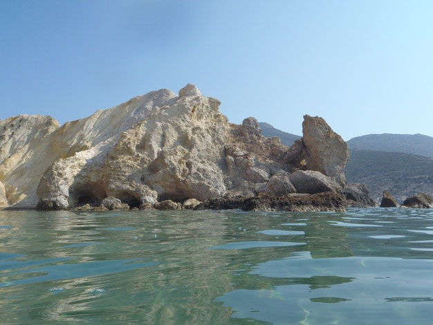 Agios Ioannis beaches, Milos, Cyclades, Greece.