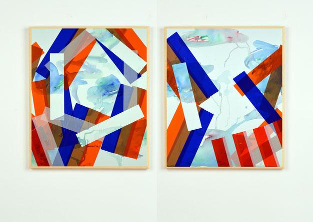 Collage d'adhésifs de l'artiste bordelais Laurent Valera