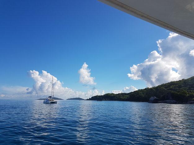 Oft ist man das einzige Boot in der Bucht.
