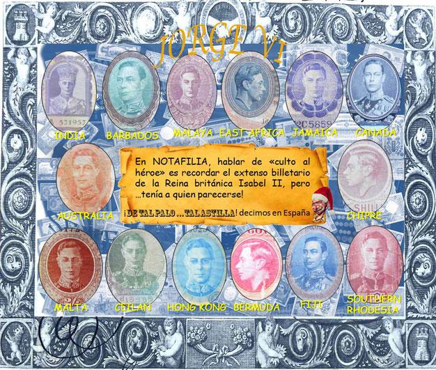 Babel Rey JORGE VI en el billetario anglosajón del siglo XX
