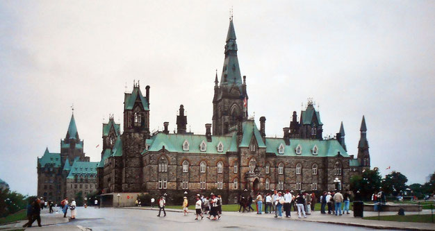 Edificios del Parlamento de Ottawa, sedes del Gobierno canadiense.