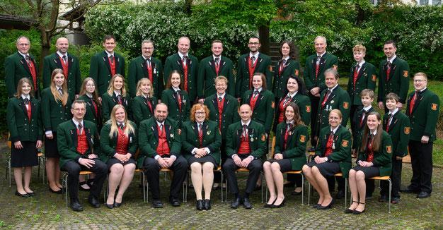 Gruppenfoto vom Musikverein Hainersdorf