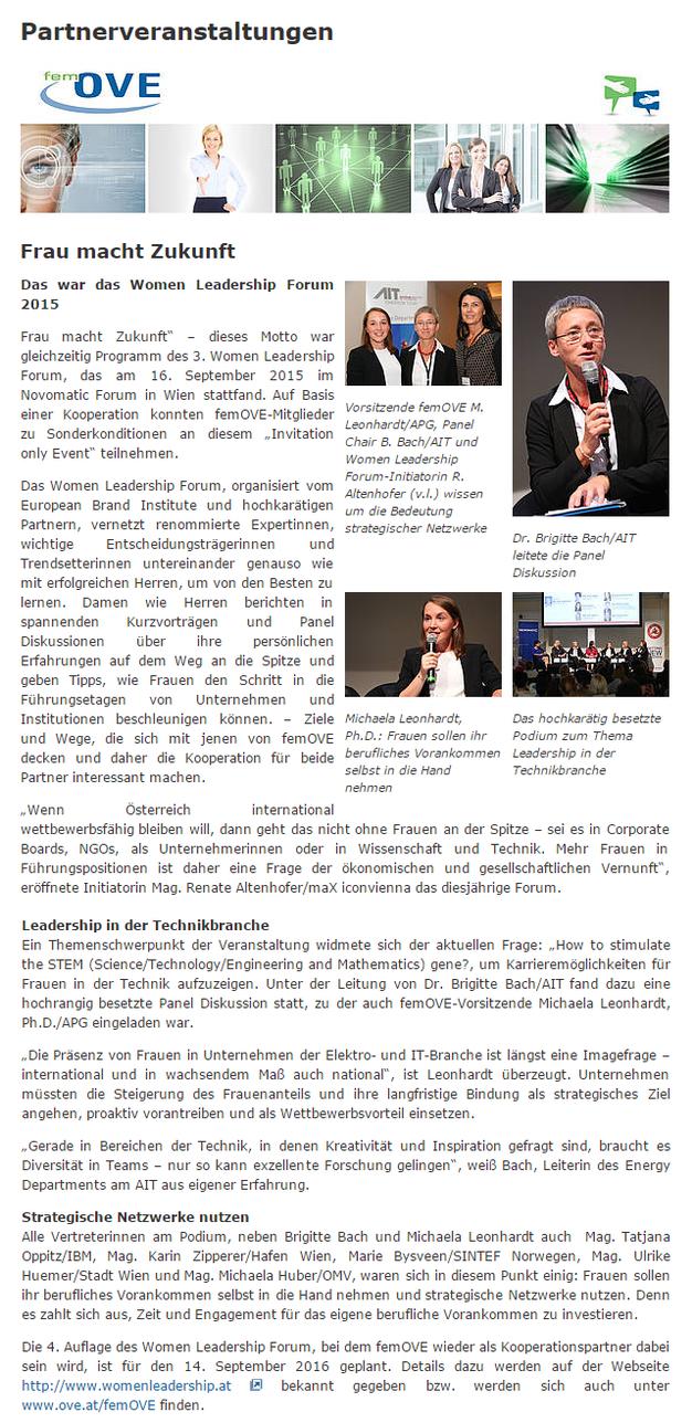 Women Leadership Forum_Partnerveranstaltung