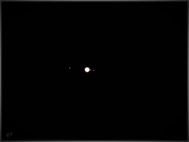 Der Jupiter mit seinen Monden