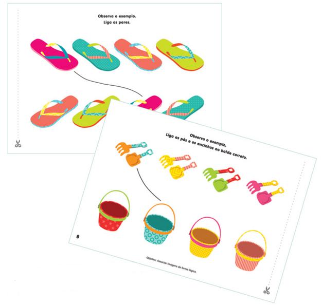Fichas de trabalho pré-escola 3-4 anos de idade
