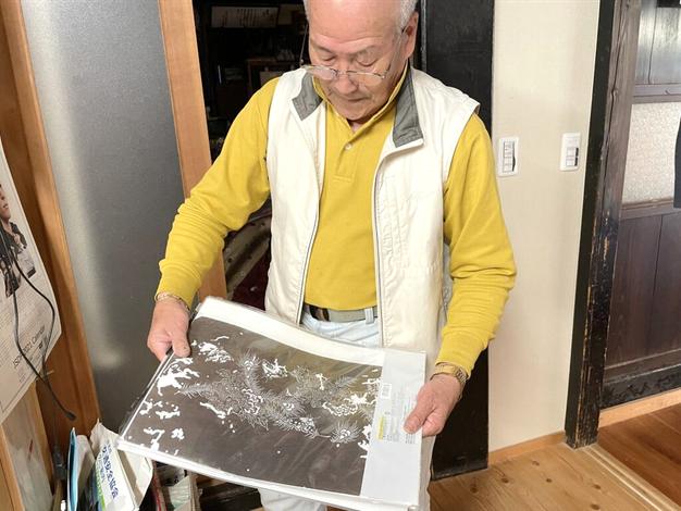 染め物の「型紙」(市川家所蔵)