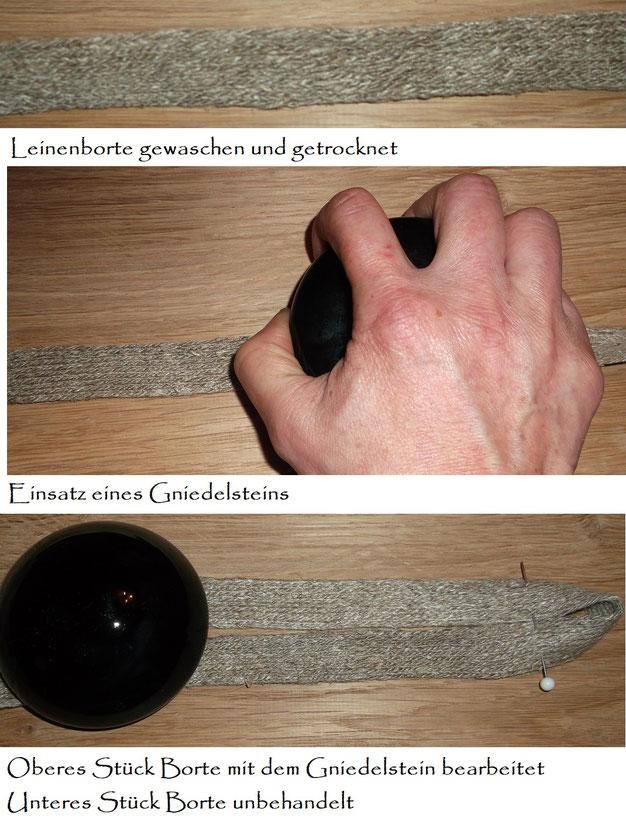 Gniedelstein,Glättglas,  Glättstein aus Glas , bügeln Mittelalter