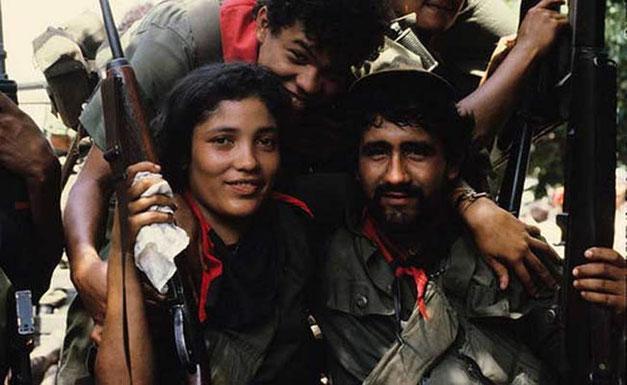 Fighters fra 'Frente Sandinista de Liberación Nacional' (FSLN) i Nicaragua