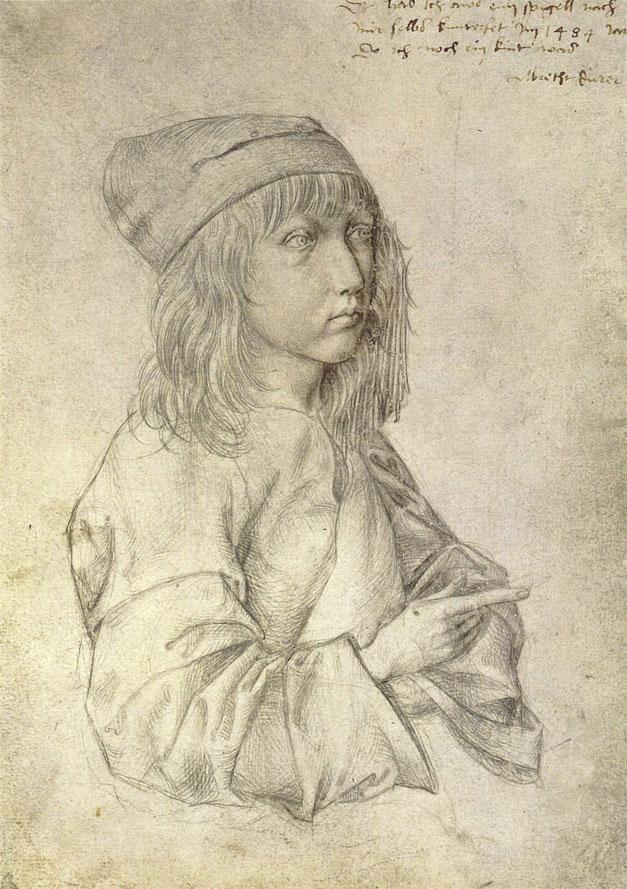 《十三歳の自画像》,1484年